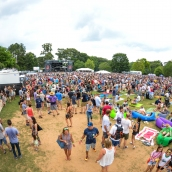 daytime back crowd view