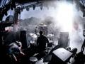 Railroad Earth dusk drummer view